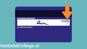 CVC code op creditkaart
