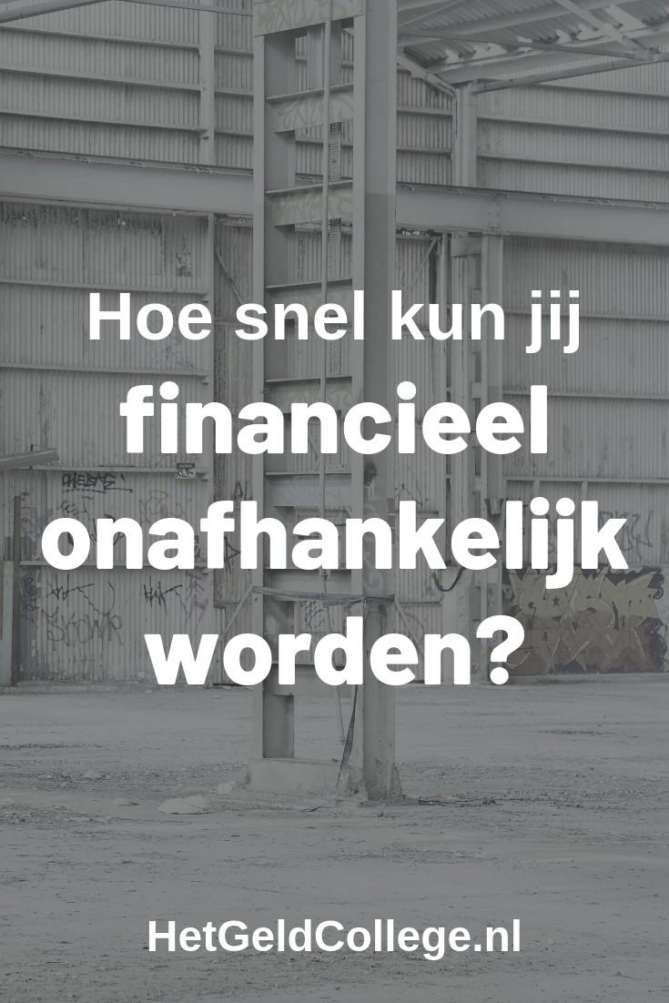 Hoe snel kun jij financieel onafhankelijk worden?