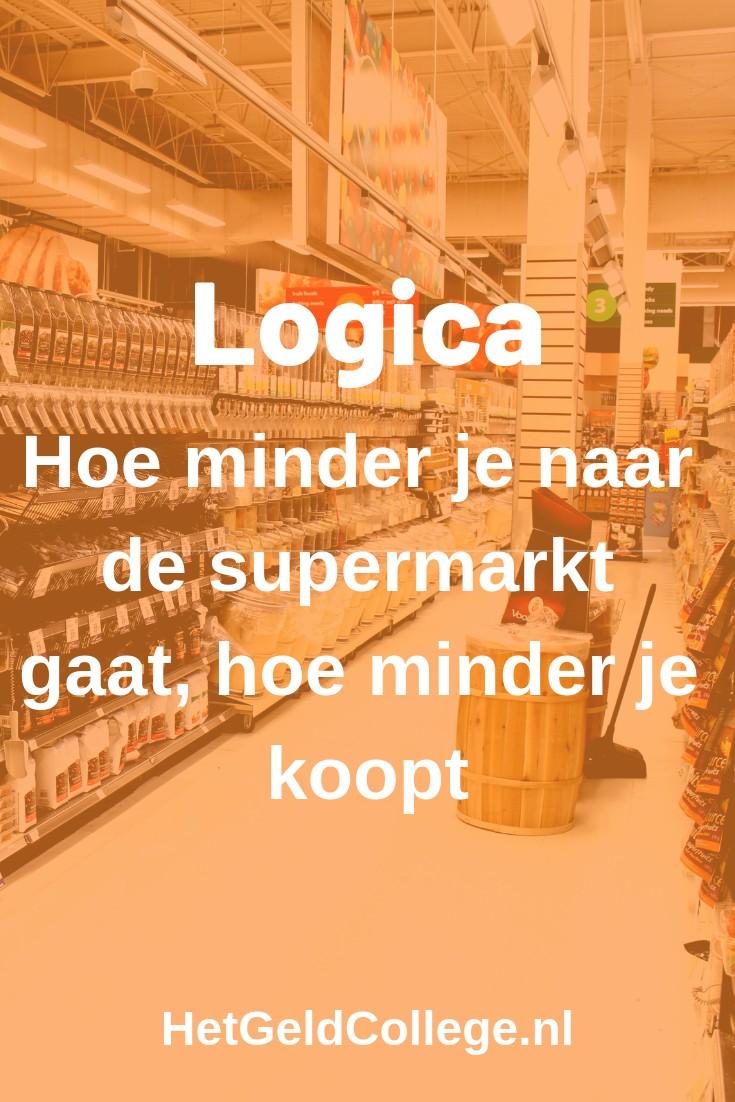 Logica: hoe minder je naar de supermarkt gaat, hoe minder je koopt
