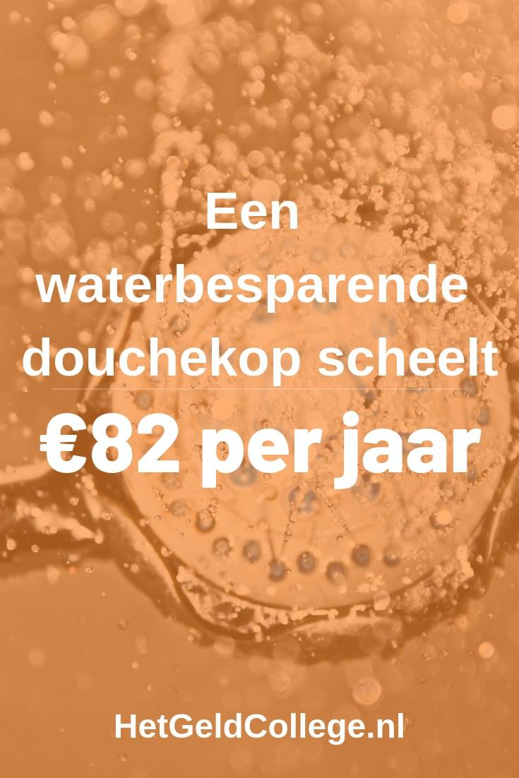 Een waterbesparende douchekop scheelt je €82 per jaar