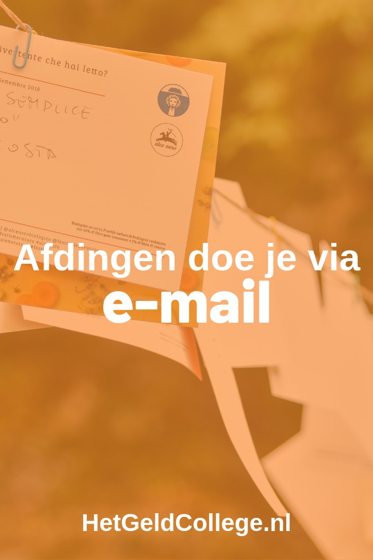 afdingen doe je via e-mail