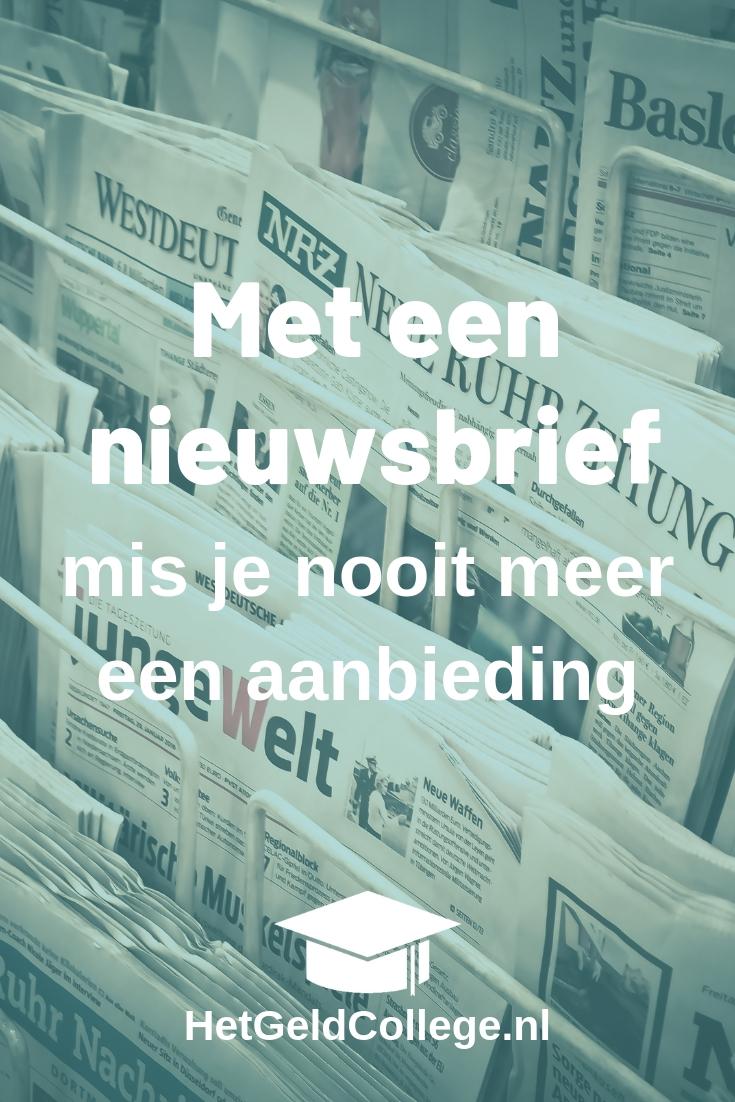 nieuwsbrief voor folders