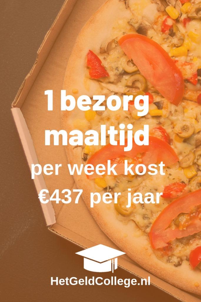 1 bezorgmaaltijd kost al snel €437 per jaar