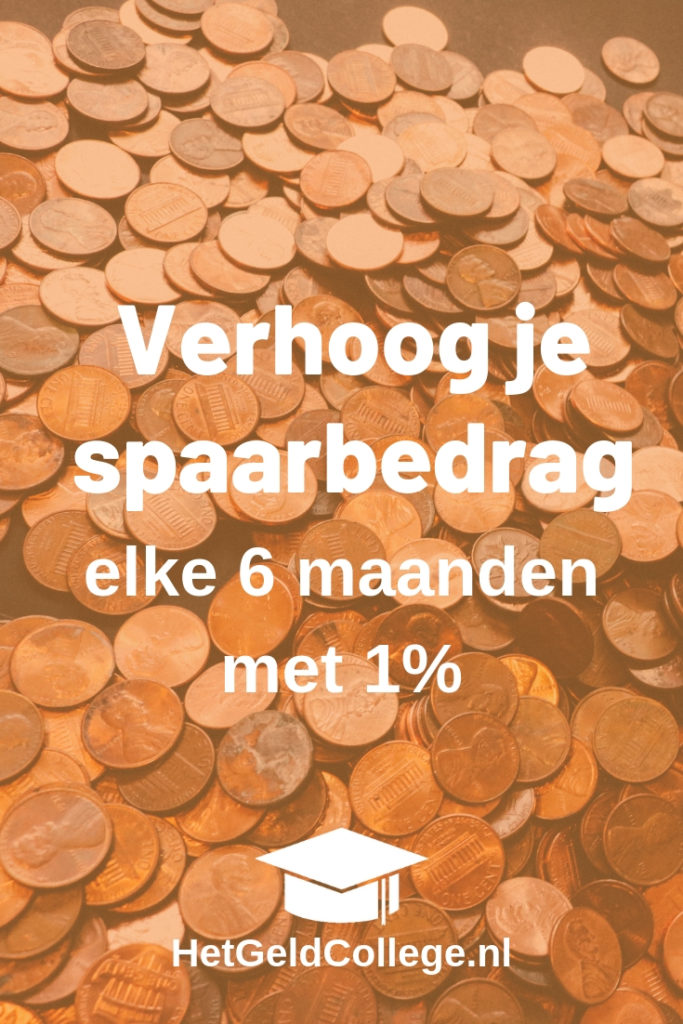 Spaartip: Verhoog je spaarbedrag elke maand met 1%