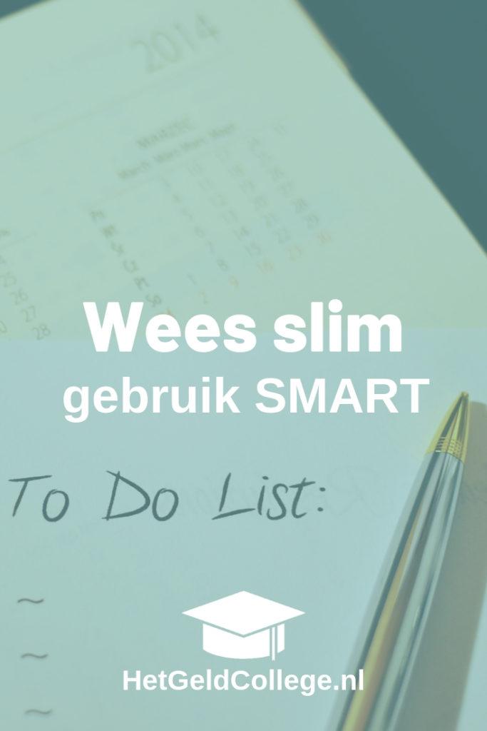 Wees slim, gebruik smart doelen