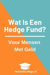 Wat Is Een Hedge Fund