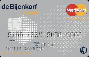 Bijenkorf Silver Creditcard